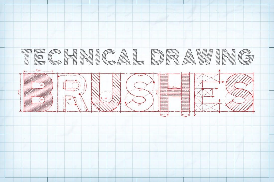 Technical-Drawing-Brushes 30+ Best High-Quality Photoshop & Illustrator Brushes design tips