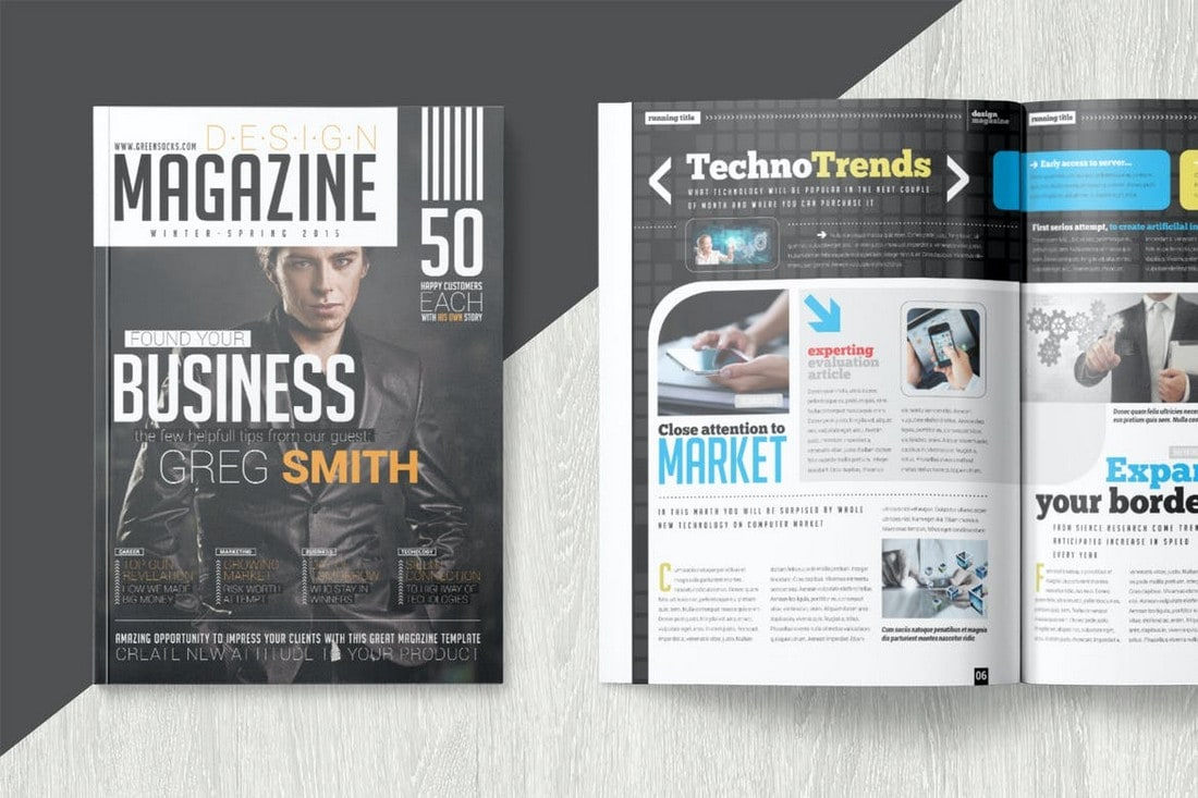 Technology-Magazine-InDesign-Template 30+ Best InDesign Magazine Templates 2021 (Free & Premium) design tips