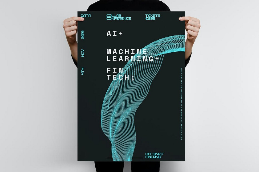 Technology-Poster-Template 10 Minimal Poster Design Examples (+10 Templates) design tips