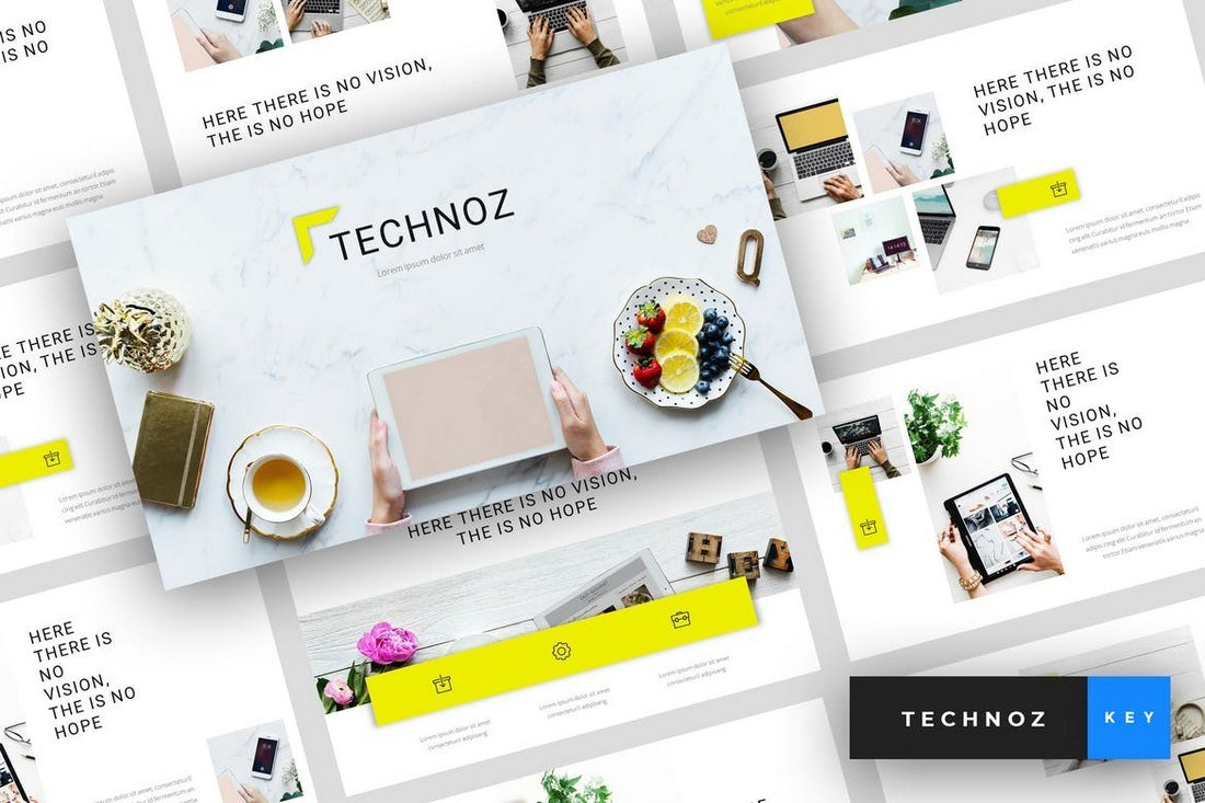 Technoz-Internet-Marketing-Keynote-Template 30+ Best Minimal & Creative Keynote Templates design tips