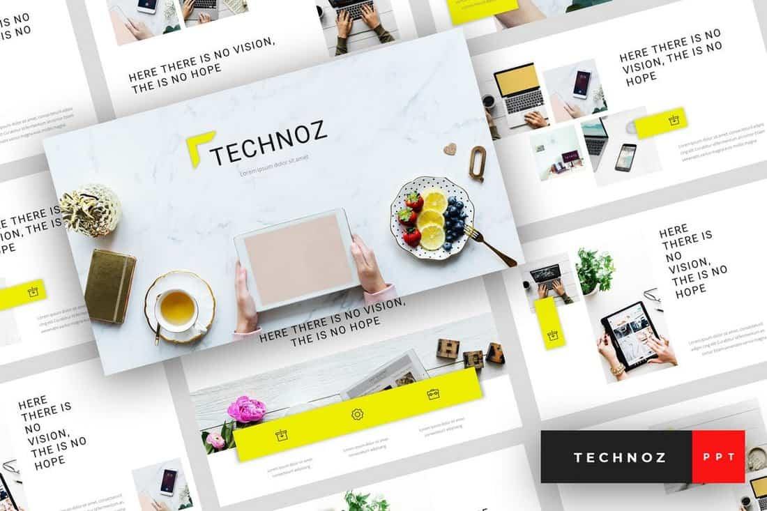 Technoz - Internet Marketing PowerPoint Template