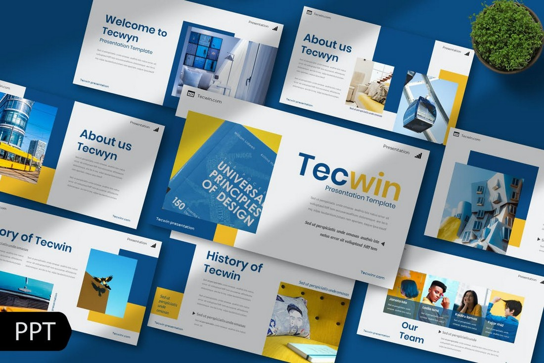 Powerpoint Template Simple Professional
