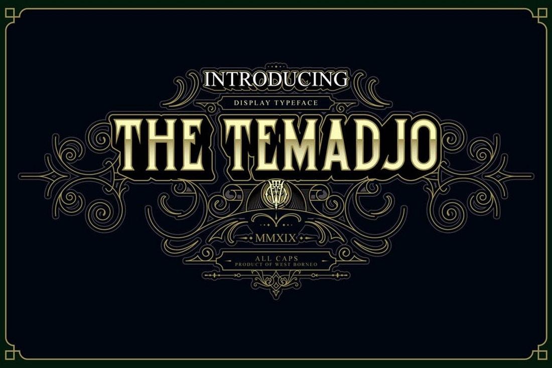 Temadjo - Elegant Vintage Font