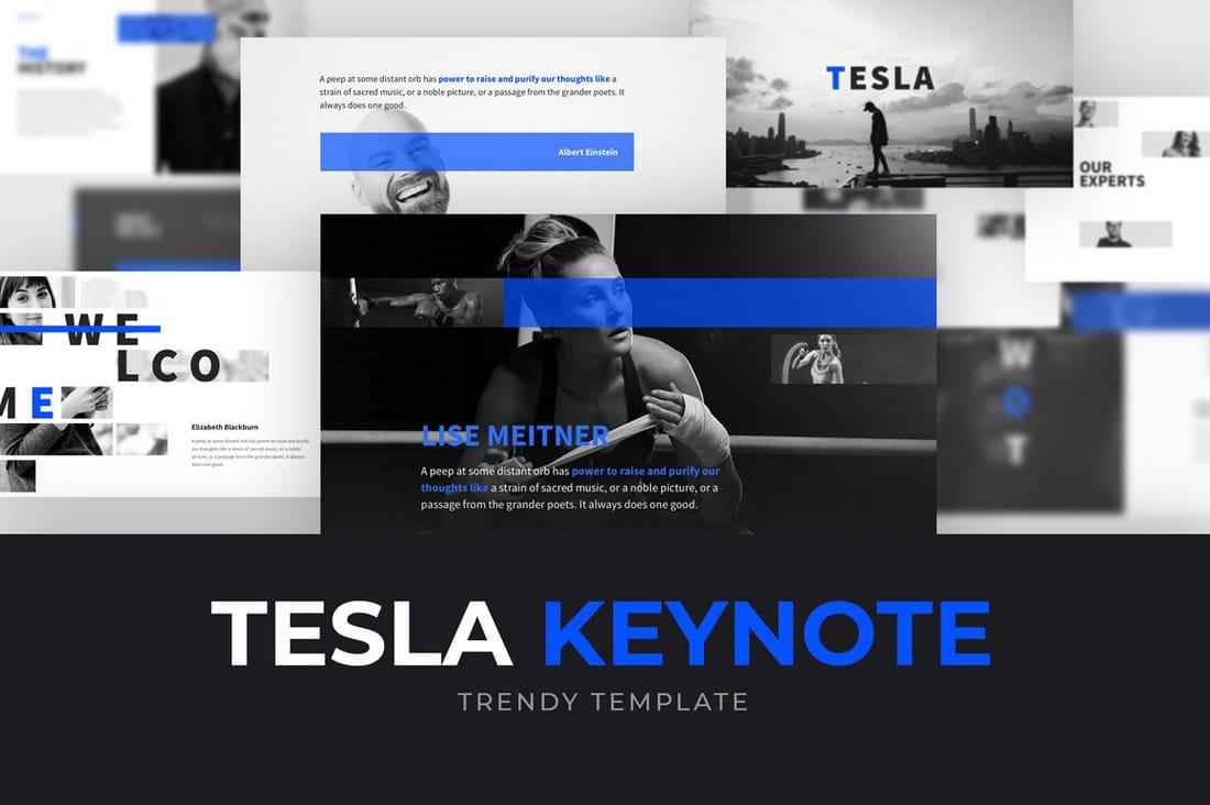 Tesla - Minimal Keynote Powerpoint Template