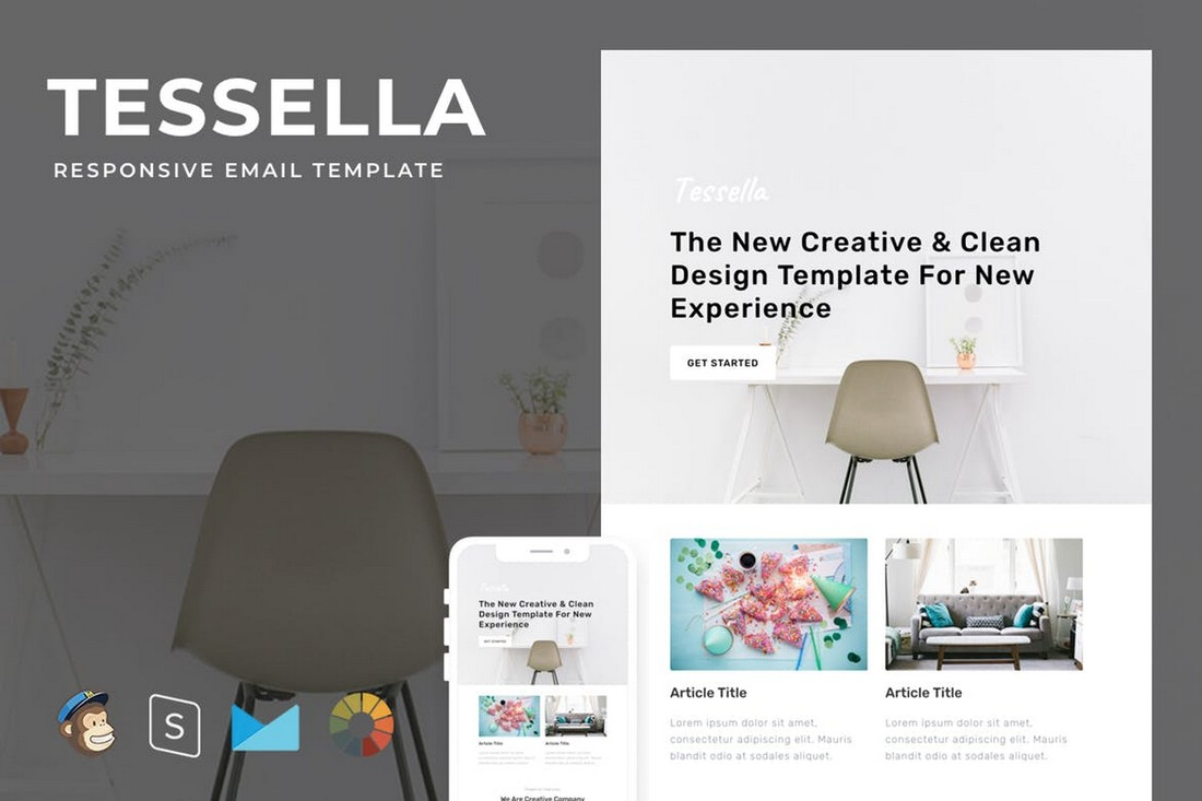 Tessella-Modern-Responsive-Email-Template 40+ Modern Responsive Email Templates 2021 design tips