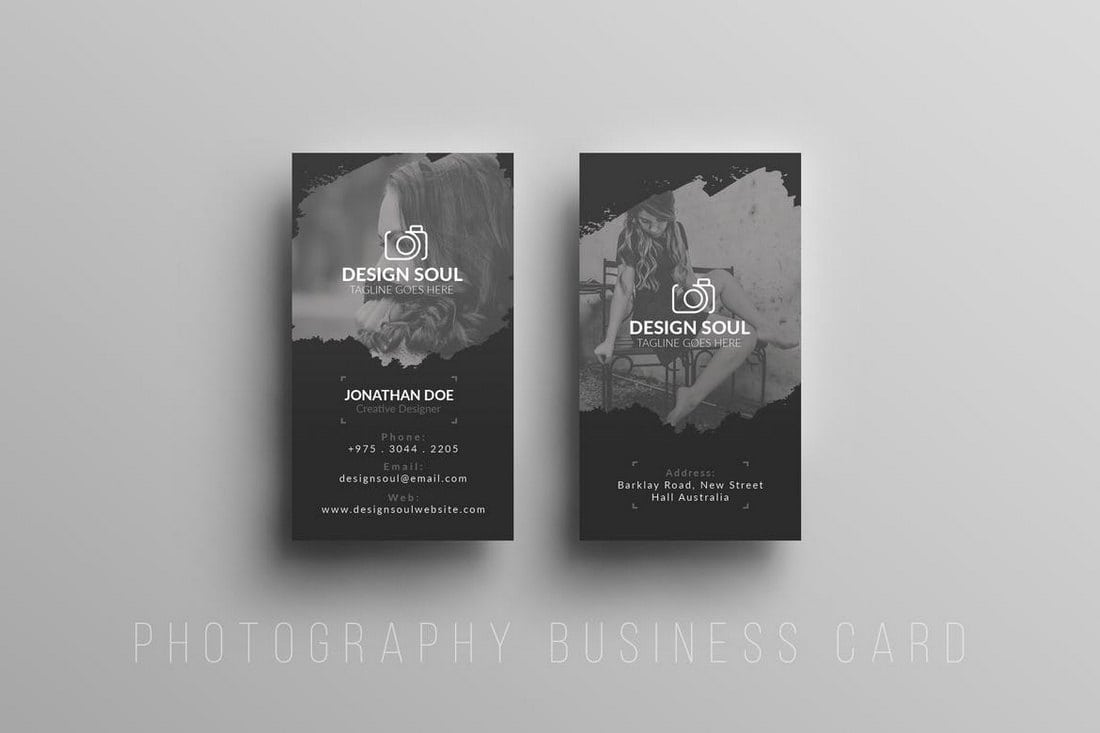 Photography business cards 20 templates ideas design shack textured photography business card cheaphphosting