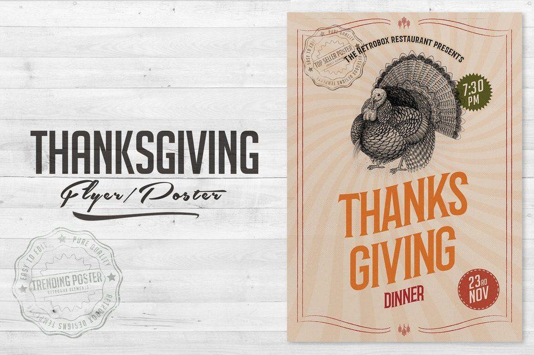 Thanksgiving-Flyer-Poster 27 Inspiring Letterpress Style Posters design tips