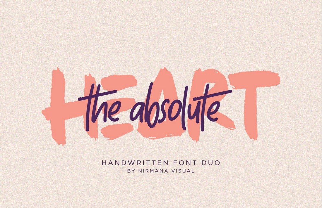 The-Absolute-Free-Handwritten-Font-Duo 25+ Free Brush, Script & Hand Lettering Fonts design tips