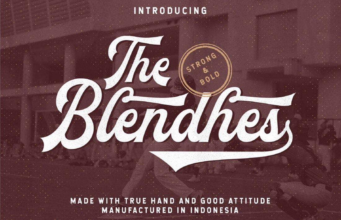 The Blendhes - Free Vintage Font