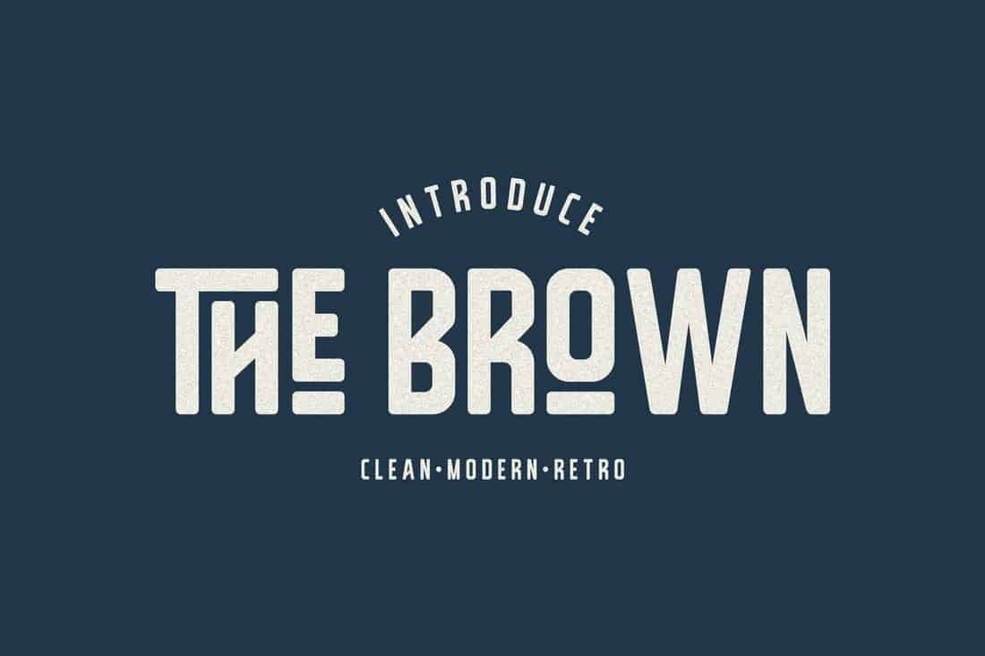 The Brown - Clean Vintage Font