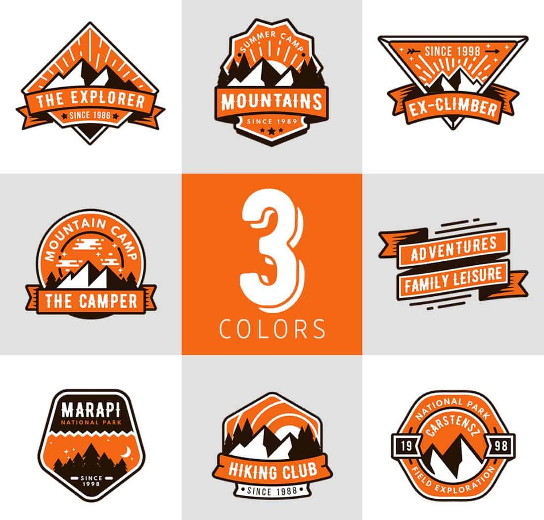 The Camper - 8 Free Logo & Badge Templates