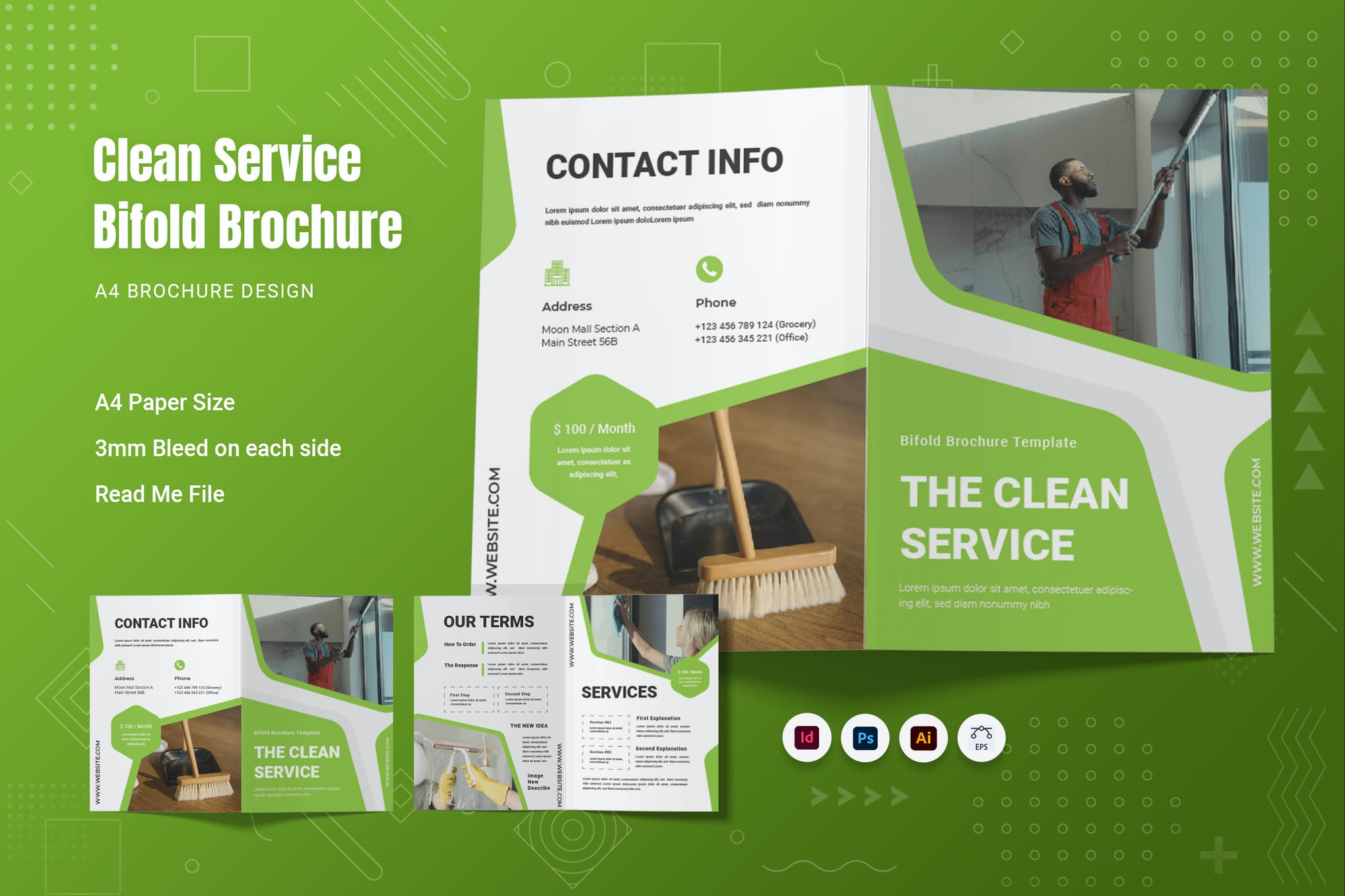 The Clean Service Bifold Brochure
