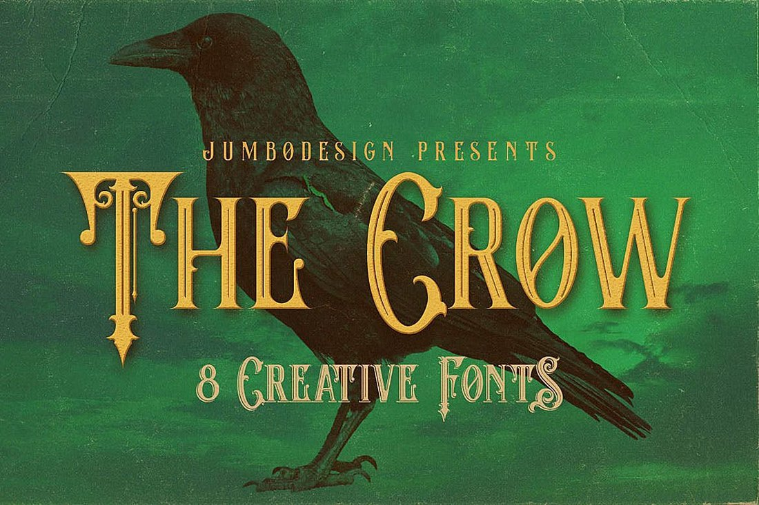 The-Crow-Vintage-Style-Halloween-Font 20+ Best Spooky Halloween Fonts design tips