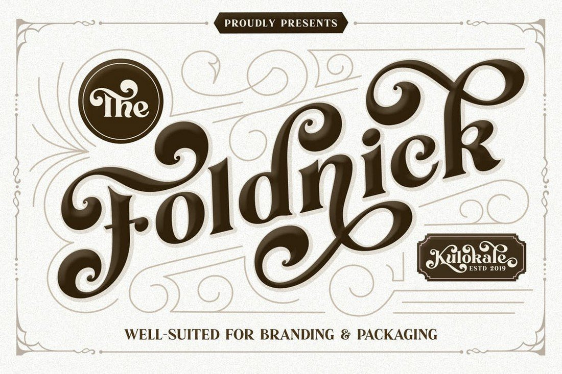 The Foldnick - Vintage Decorative Font