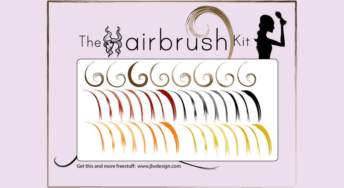The-Hairbrush-Kit-Free-Illustrator-Brushes 25+ Best Free Adobe Illustrator Brushes 2021 design tips
