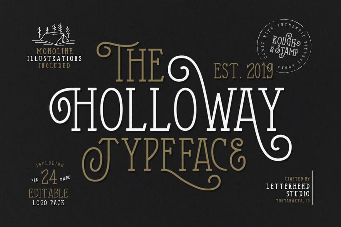 The Holloway - Creative Serif Font