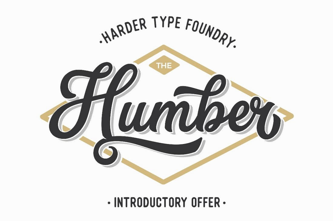 The-Humber-Font 100+ Beautiful Script, Brush & Calligraphy Fonts design tips