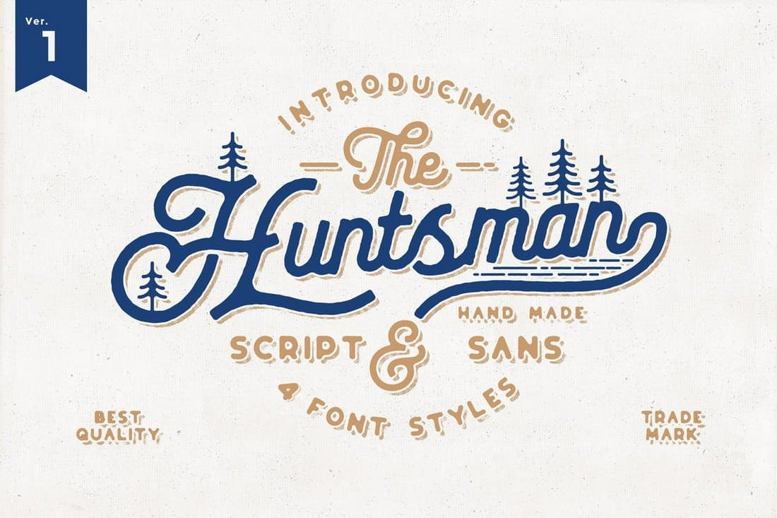The Huntsman Script Vintage Typeface