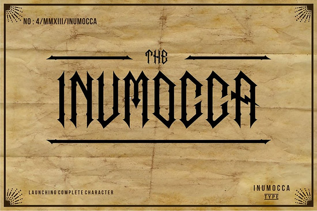 The-Inumocca-Gothic-Font 20+ Best Gothic Fonts design tips