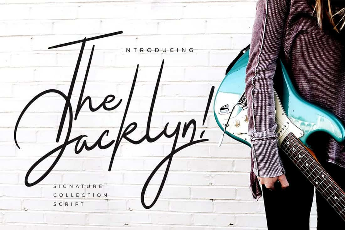 The Jacklyn - Hand Lettering Signature Font