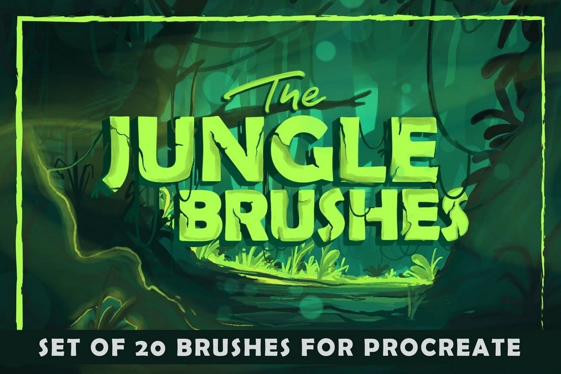 The-Jungle-Art-Procreate-Brushes 30+ Best Procreate Brushes 2020 (Free & Pro) design tips