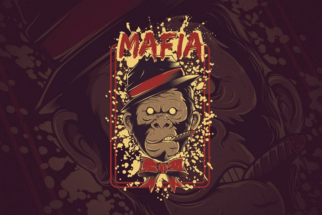 The-Mafia-tshirt-design 10+ Creative T-Shirt Design Ideas (How to Design a T-Shirt) design tips