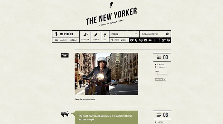 The-New-Yorker-Premium-Tumblr-Theme 50+ Best Free & Premium Tumblr Themes 2018 design tips