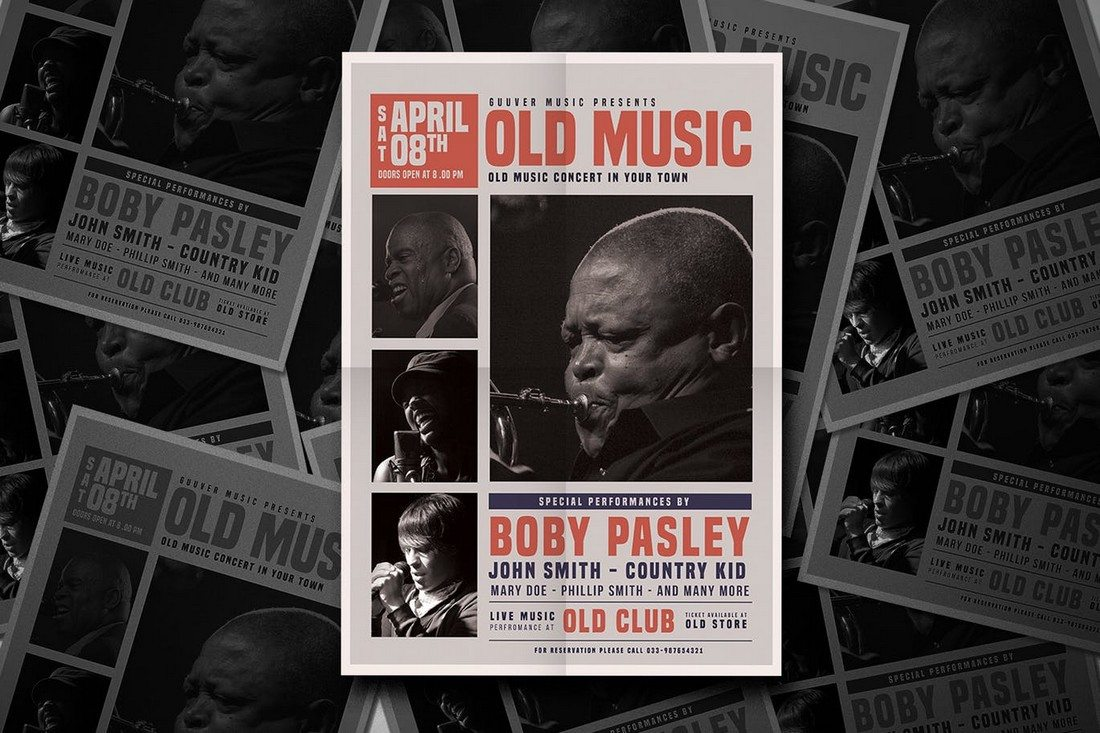 The-Old-Music-Flyer 30+ Best Music & Band Flyer Templates design tips