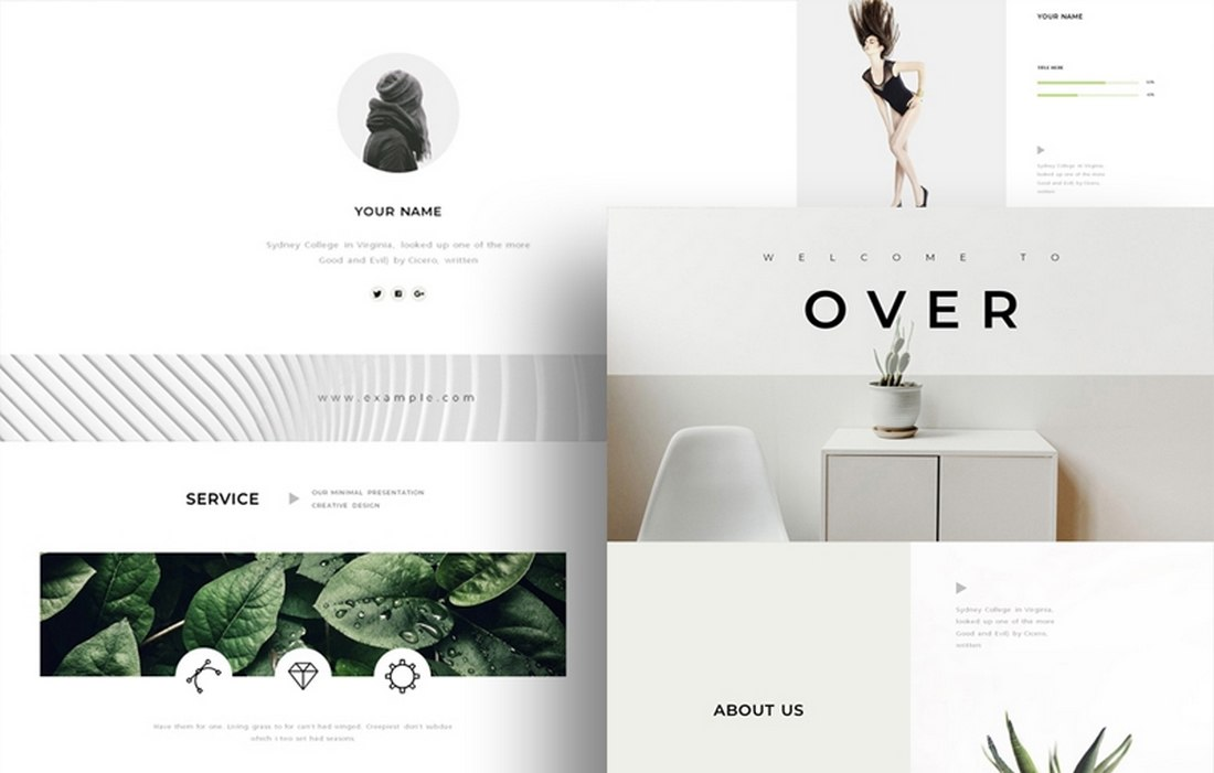 The Over - Free Minimal Keynote Template