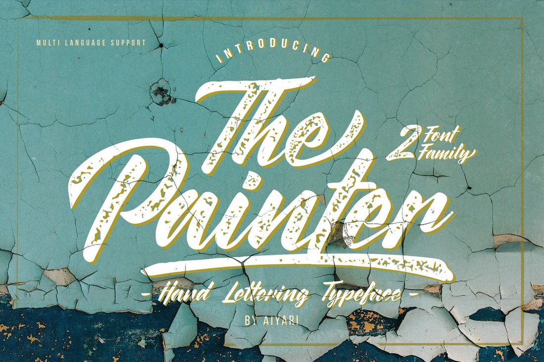 The-Painter-Vintage-Poster-Font 30+ Best Fonts for Posters design tips