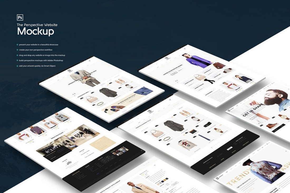 The-Perspective-Website-Mockup 40+ Best Website PSD Mockups & Tools 2020 design tips