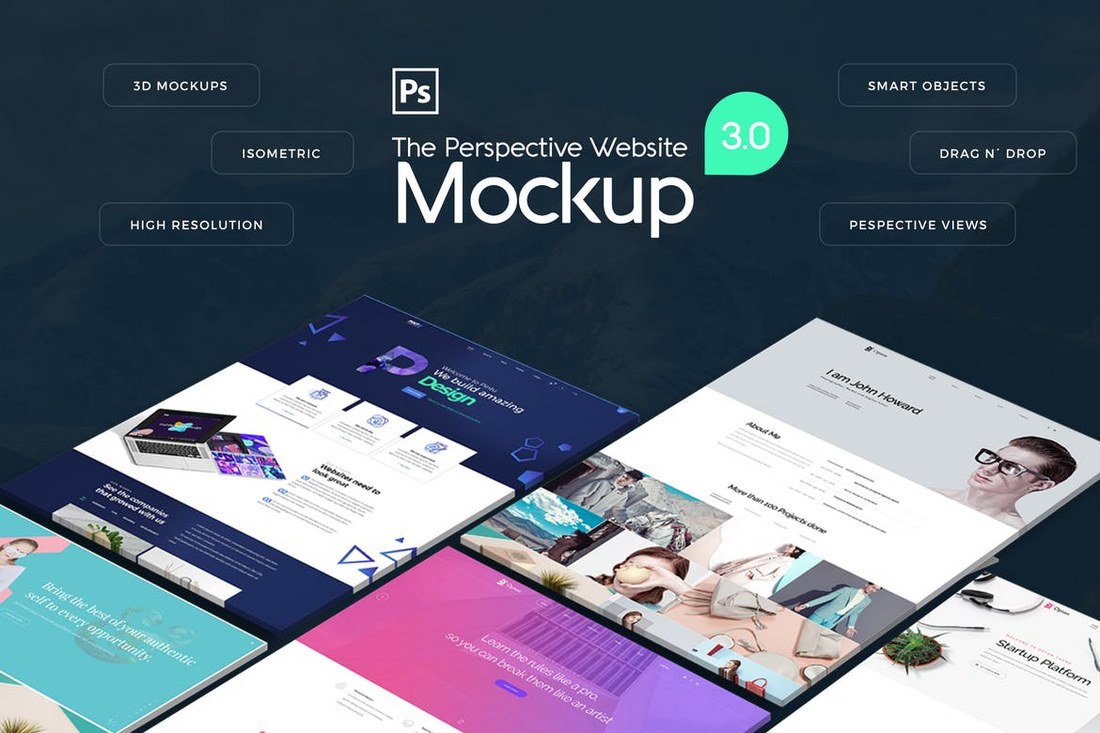 The-Pespective-Website-Mockup-3.0 40+ Best Website PSD Mockups & Tools 2020 design tips