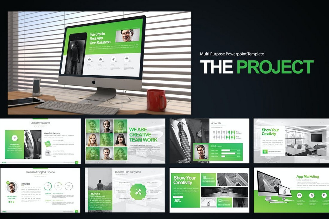 The-Project-Presentation-Powerpoint-Template 20+ Best Webinar PowerPoint Templates (Remote Presentation PPT Slides) design tips