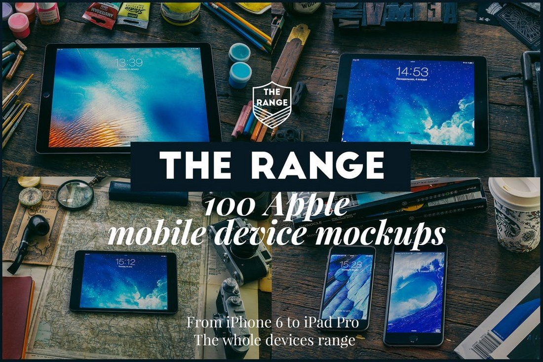 The-Range-100-Apple-idevices-mockups 100+ iPad Mockup PSD & PNG Templates design tips
