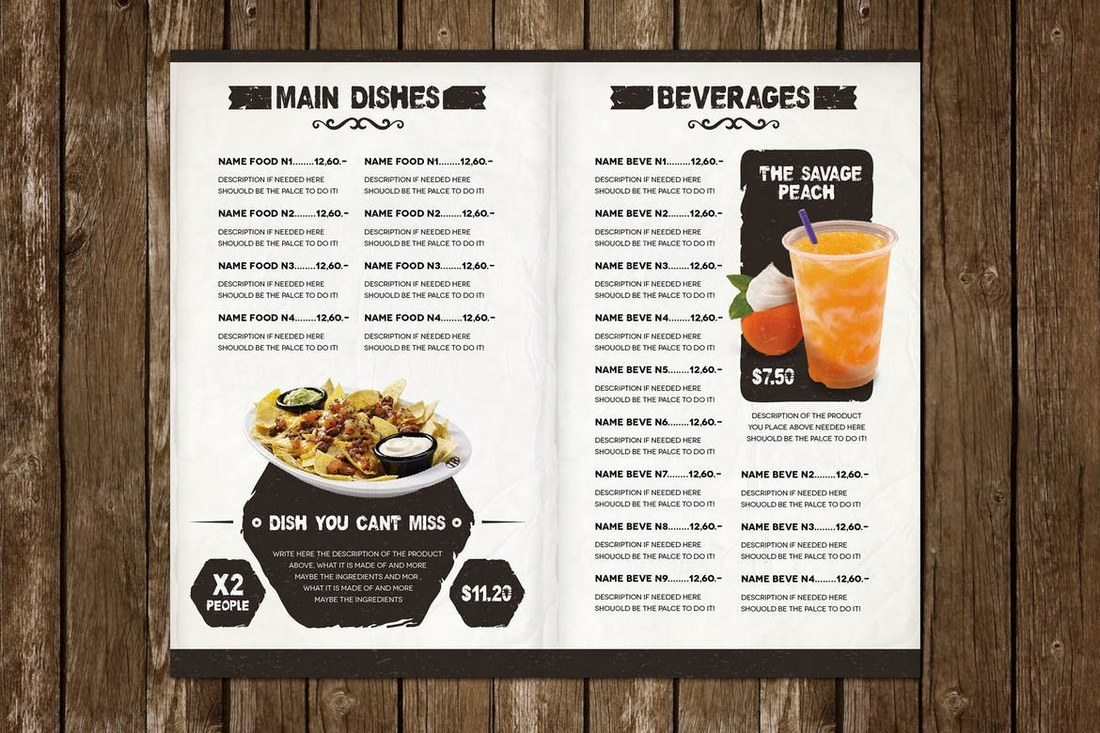 The-Ristorante-Food-Menu 50+ Best Food & Drink Menu Templates design tips