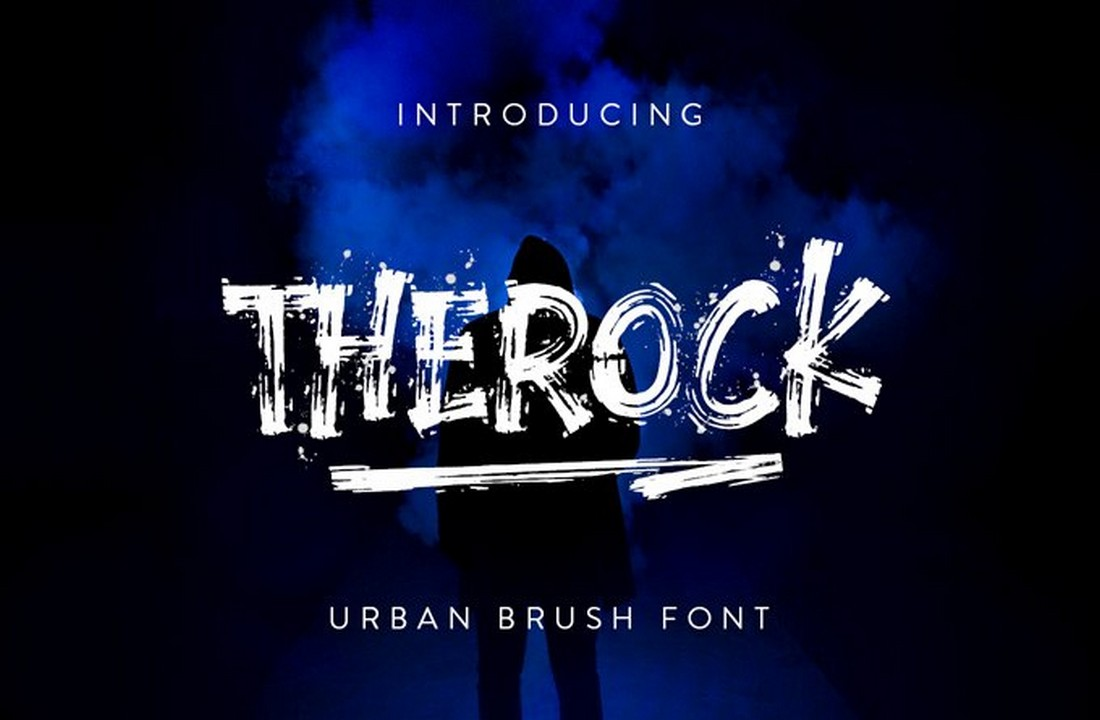 The-Rock-Free-Urban-Brush-Font 25+ Free Brush, Script & Hand Lettering Fonts design tips
