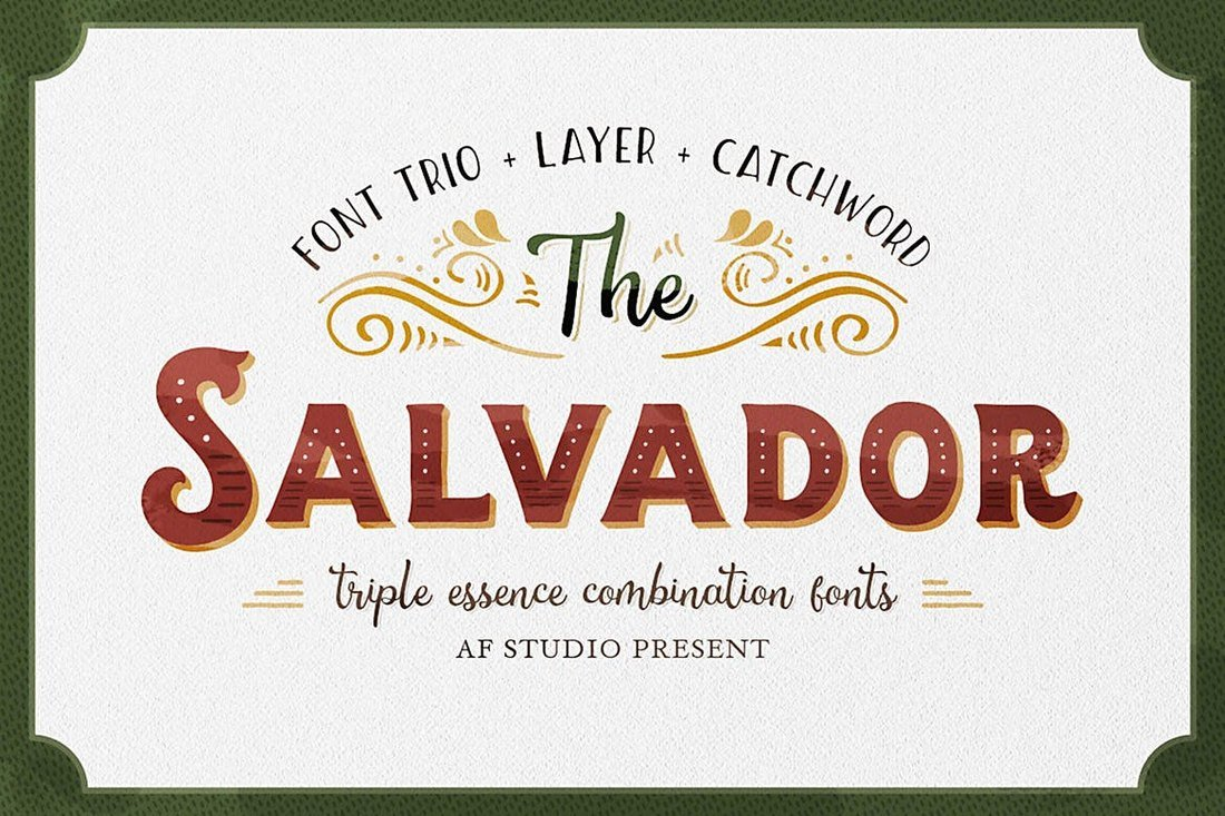 The Salvador - Fuente Retro Tattoo