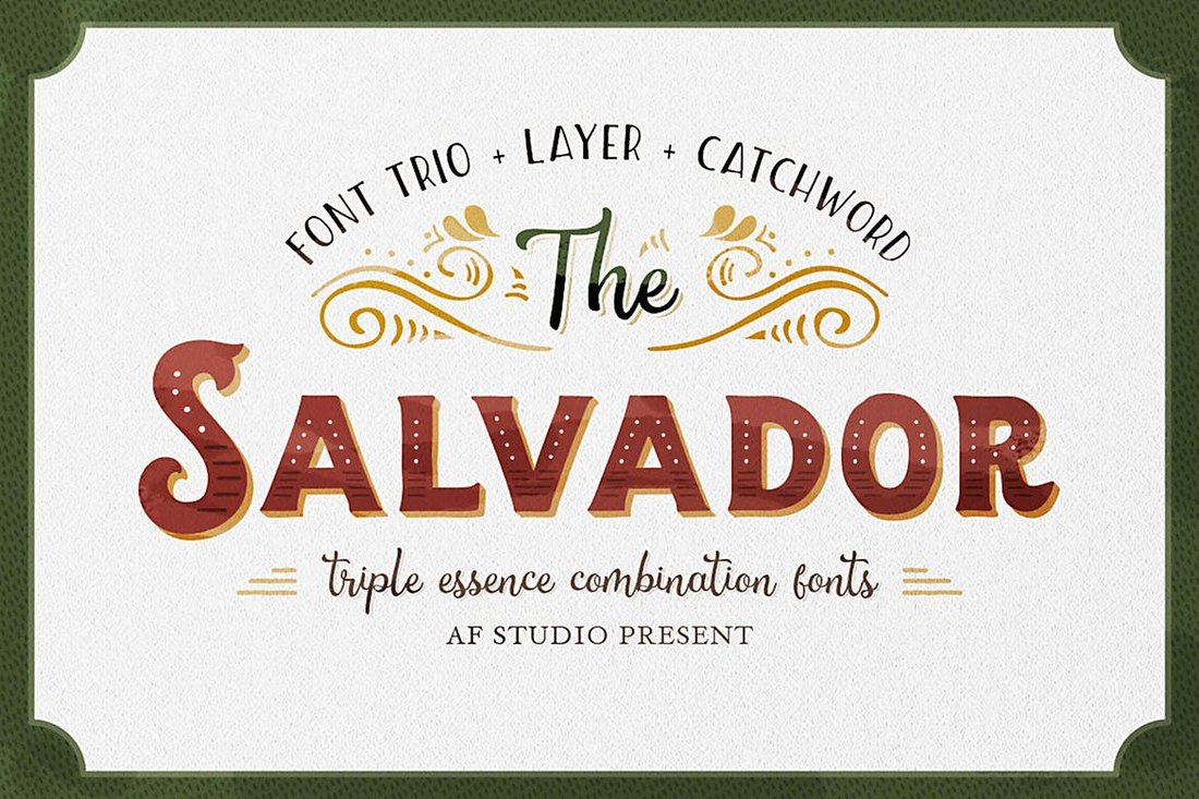 The-Salvador-Retro-Tattoo-Font 20+ Best Tattoo Fonts & Lettering design tips