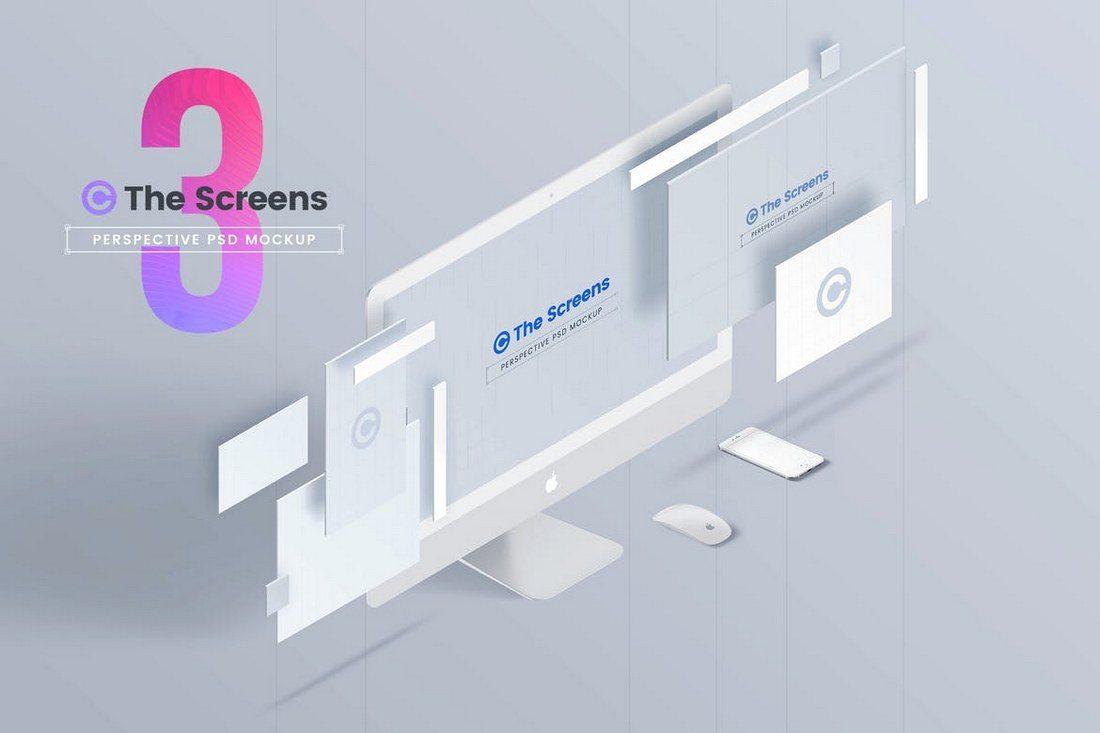 The-Screens-Perspective-PSD-Mockup-Template-1 20+ Best Responsive Website & App Mockup Templates design tips