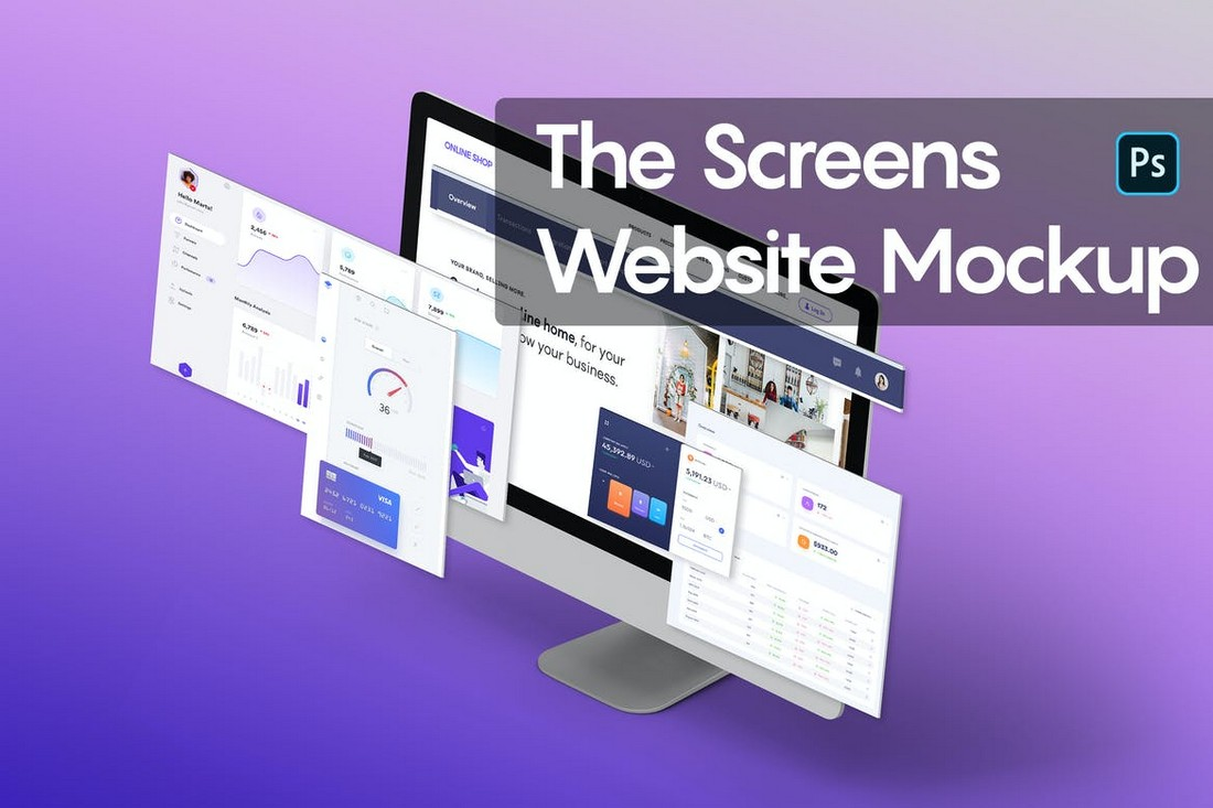 The-Screens-Website-PSD-Mockup 40+ Best Website PSD Mockups & Tools 2020 design tips
