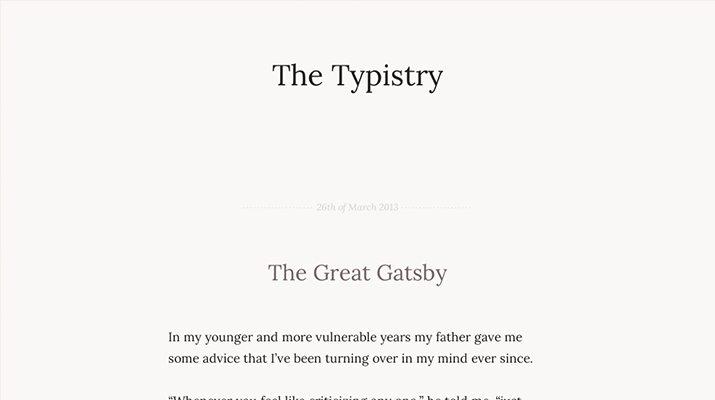 The-Typistry-Premium-Tumblr-Theme 50+ Best Free & Premium Tumblr Themes 2018 design tips