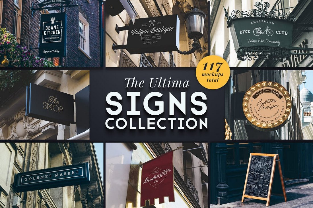 La collection de maquettes Ultima Shop Sign