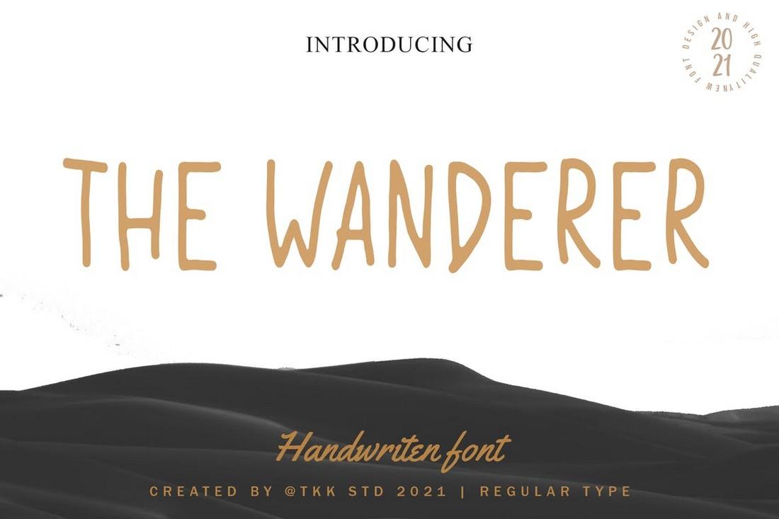 The Wanderer - Condensed font for Procreatelle