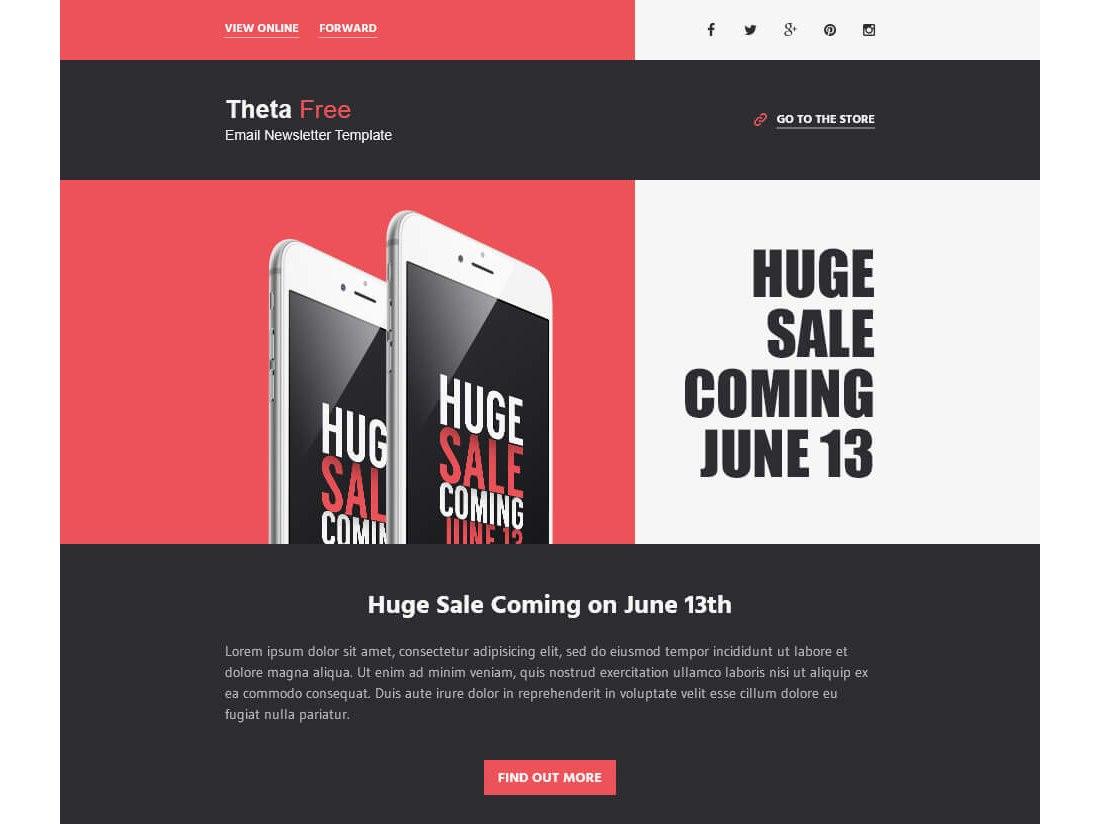 Theta-–-Free-Responsive-HTML-Email-Template 40+ Modern Responsive Email Templates 2021 design tips