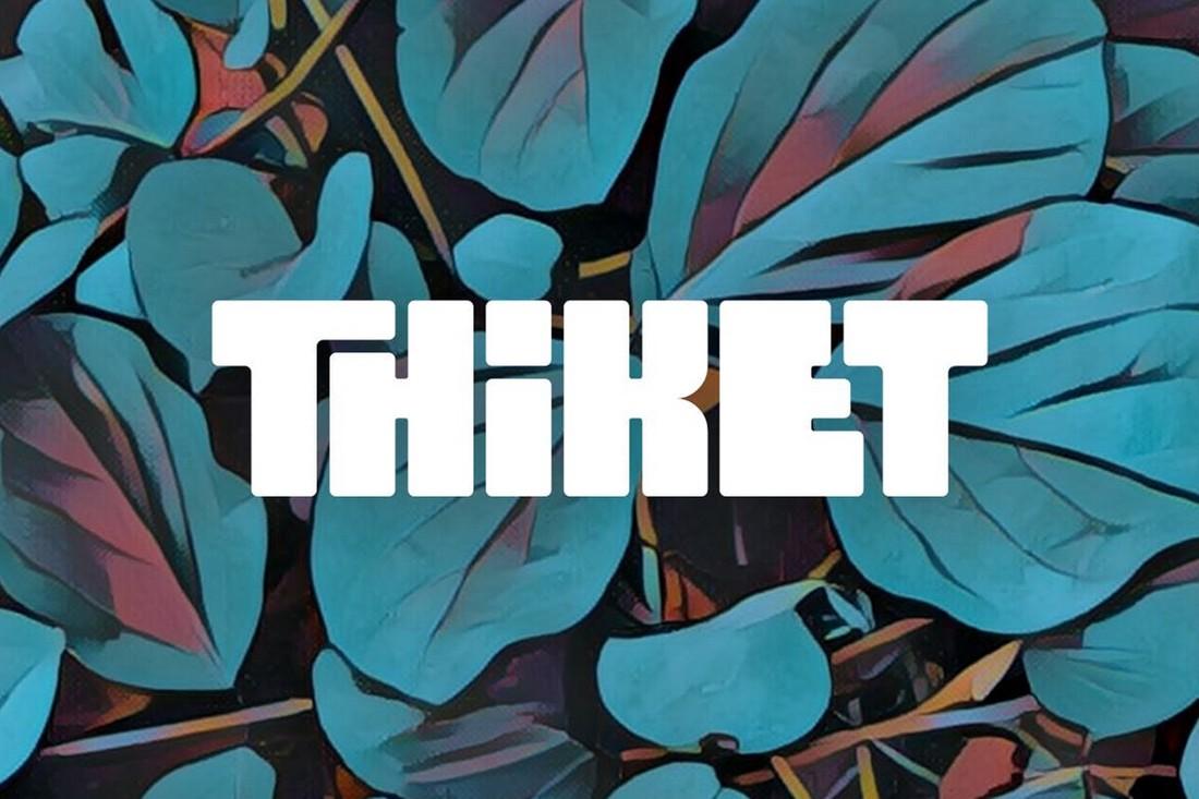 Thiket - Creative Chunky Typeface