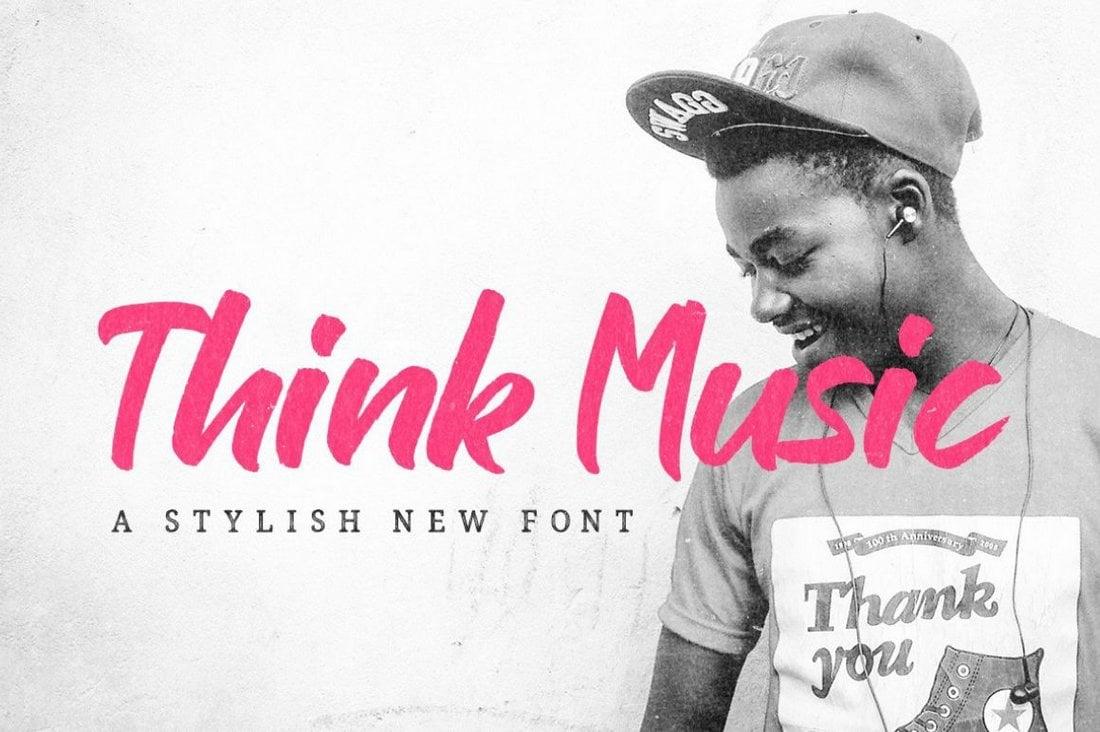 Think Music - Free Display Script Font