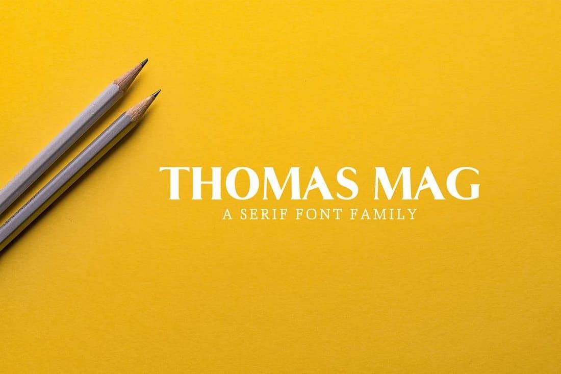 Thomas Mag Serif Font Family