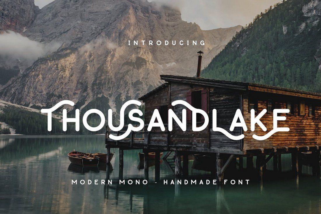 Thousand-Lake-Handmade-Font 30+ Best Fonts for Logo Design design tips