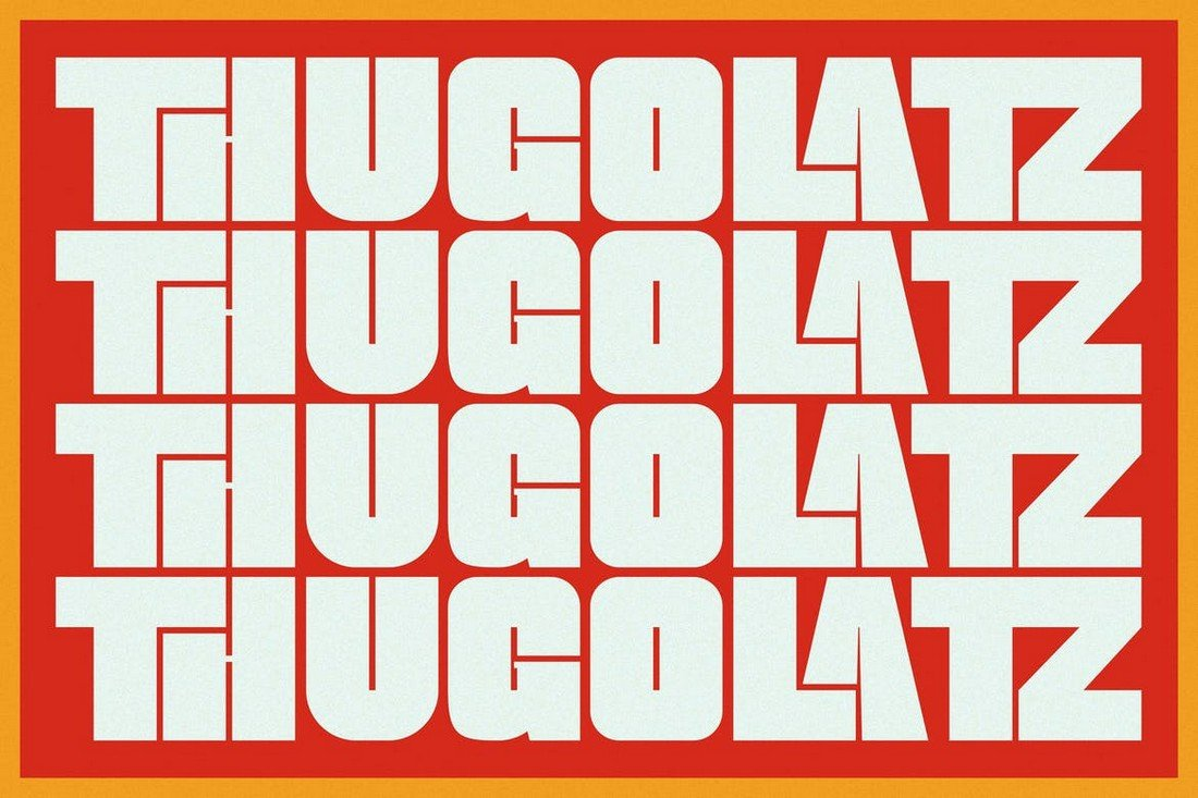 Thugolatz - Ligature Extended Sans Font
