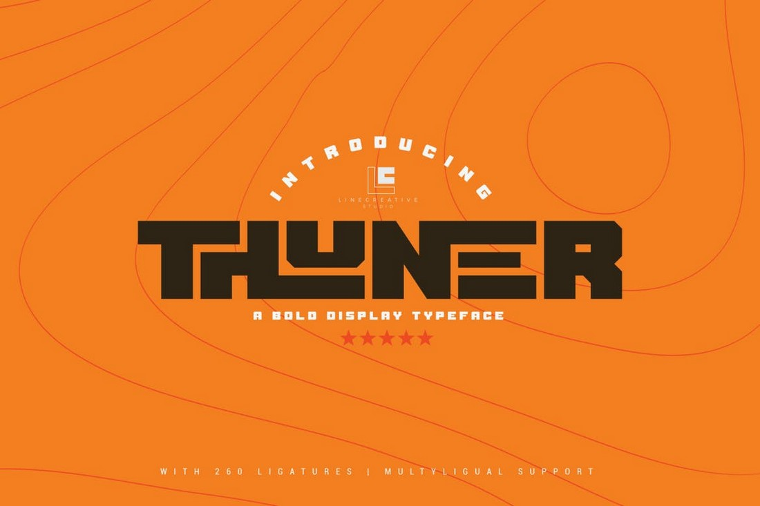 Thuner - Thick Display Font